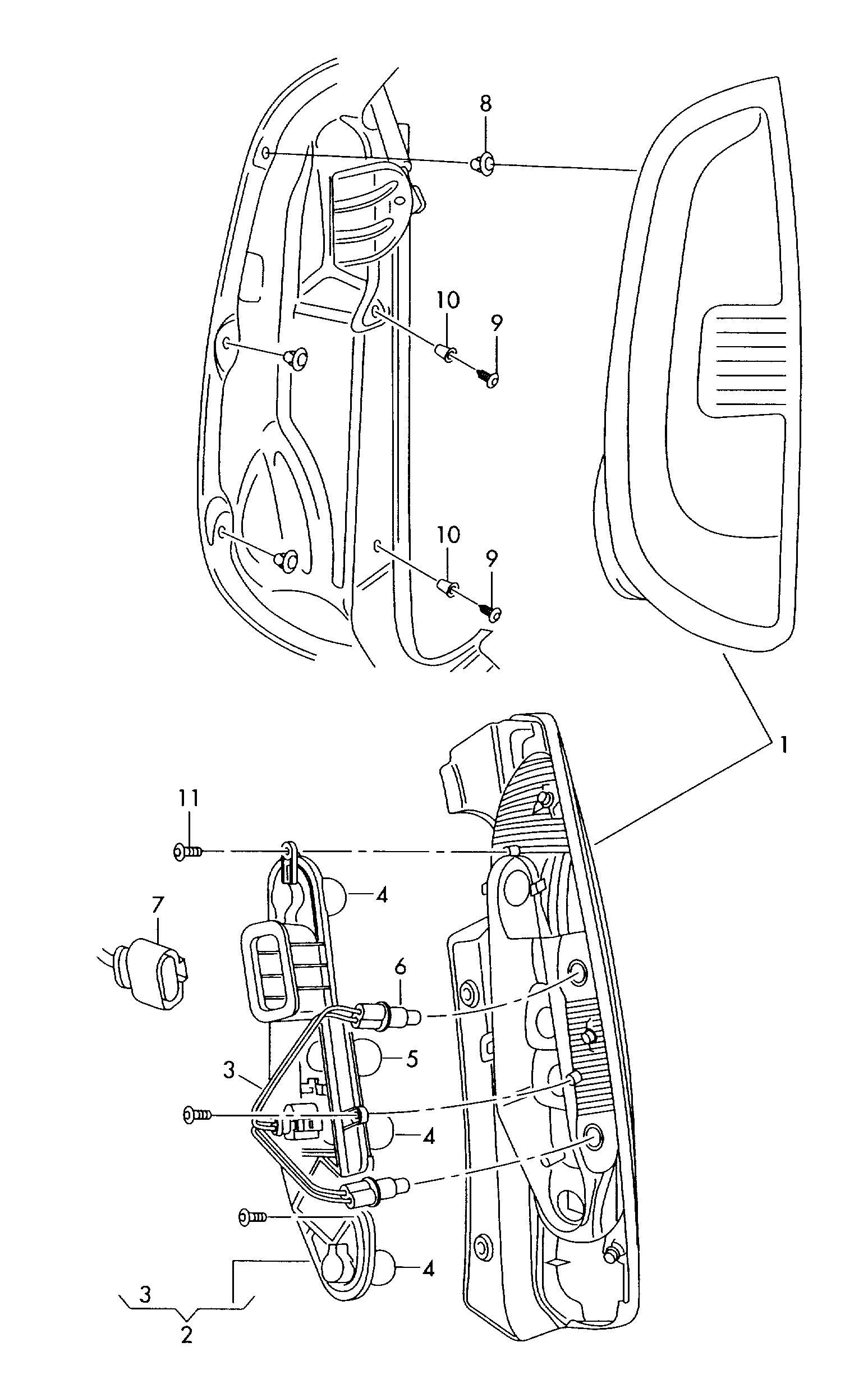 Фонарь правый Skoda Roomster (2006-2015)