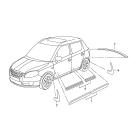 Брызговики передние (к-т) Skoda Fabia 2 (2010-2015)