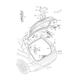 Амортизатор задней двери Audi A1 8X (2010-2017)