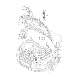 Амортизатор капота Audi A1 8X (2010-2017)