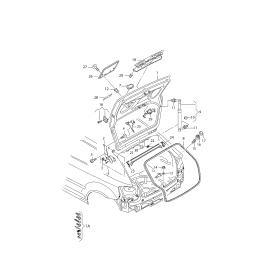 Амортизатор крышки багажника Audi A3 8P (2003-2013)
