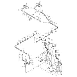 Бачок омывателя Audi A1 8X (2010-2017)