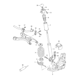 Отбойник амортизатора заднего Audi A6 C7 (2011-н.в.)