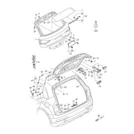 Амортизатор крышки багажника Audi Q3 8U (2011-2017)