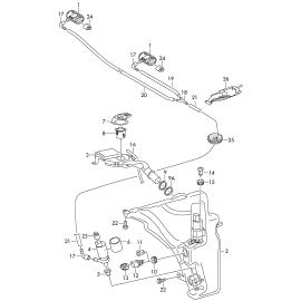 Горловина бачка омывателя Audi A4 B8 (2007-2015)