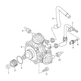 Топливный насос высокого давления Audi Q7 4L (2006-2015)