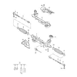 Рейка рулевая в сборе Skoda Octavia A7 (2013-н.в.)