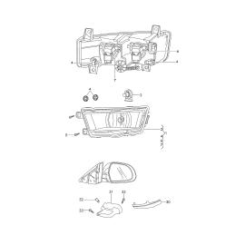 Повторитель поворота левый (зеркало) Skoda Octavia A7 (2013-н.в.)