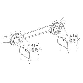 Брызговики передние (к-т) Volkswagen Polo sedan (2010-н.в.)