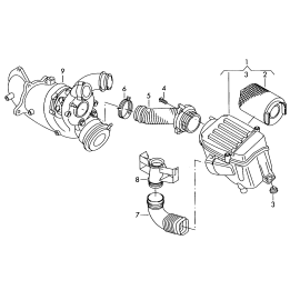 Фильтр воздушный Volkswagen Jetta 5 (2005-2010)