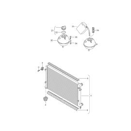 Бачок расширительный Skoda Superb 2 (2008-2015)