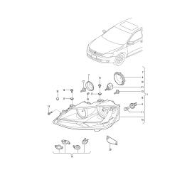 Фара правая Volkswagen Jetta 6 (2010-н.в.)
