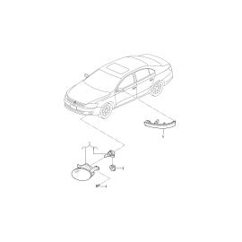 Фара противотуманная (ПТФ) левая Volkswagen Jetta 6 (2010-н.в.)