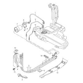 Фильтр топливный Volkswagen Golf 5 (2003-2009)