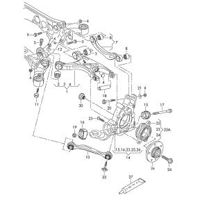 Рычаг подвески задней верхний правый Audi A6 C7 (2011-н.в.)