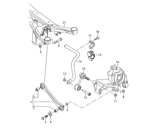 Втулка стабилизатора задняя Audi A1 8X (2010-2017)