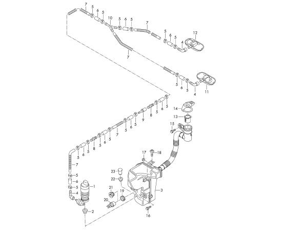 Бачок омывателя Audi A3 8P (2003-2013)