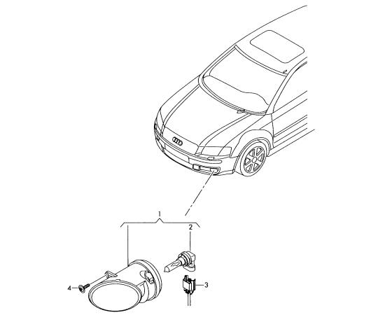 Фара противотуманная (ПТФ) правая Audi A3 8P (2003-2013)