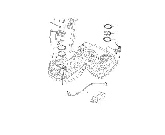 Насос топливный в сборе Audi A6 C7 (2011-н.в.)