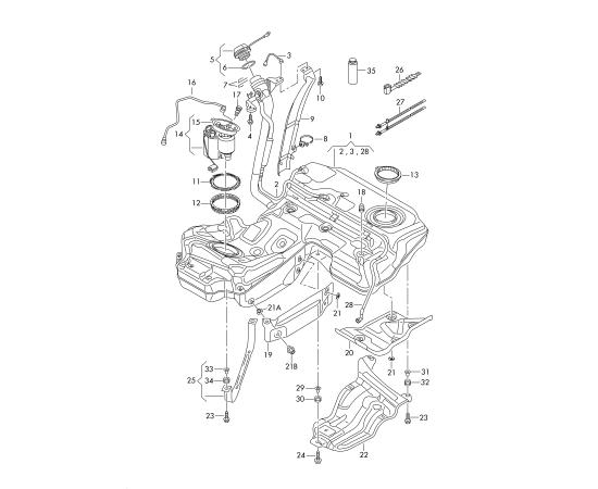 Фильтр топливный Audi A6 C7 (2011-н.в.)