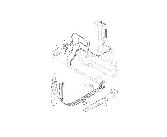 Фильтр топливный Audi A4 B7 (2004-2007)