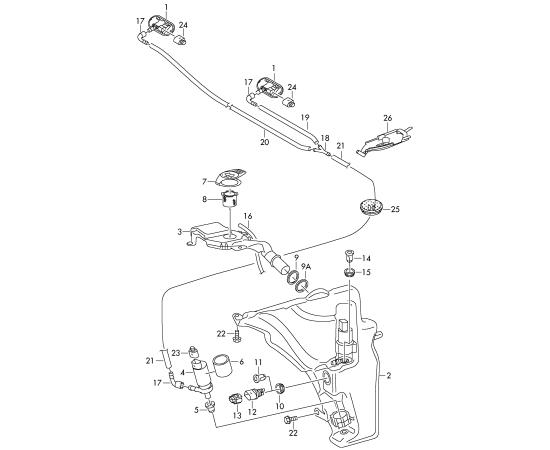 Бачок омывателя Audi A4 B8 (2007-2015)