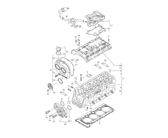 Прокладка маслоотделителя Audi A4 B8 (2007-2015)