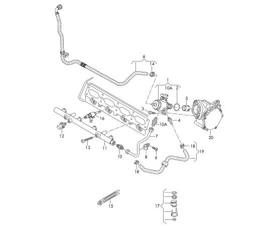 Топливный насос высокого давления Audi A4 B8 (2007-2015)