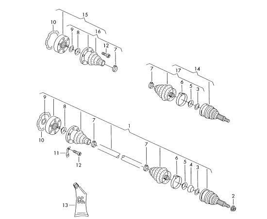Пыльники ШРУСа внутреннего Skoda Yeti 1 (2009-2017)