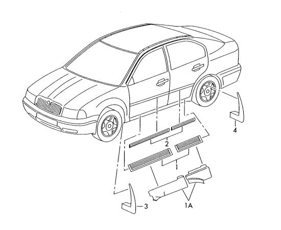 Брызговики передние (к-т) Skoda Octavia A5 (2004-2013)