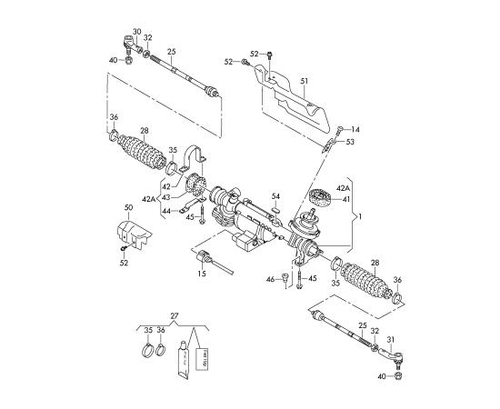 Пыльник рейки рулевой Skoda Octavia A7 (2013-н.в.)