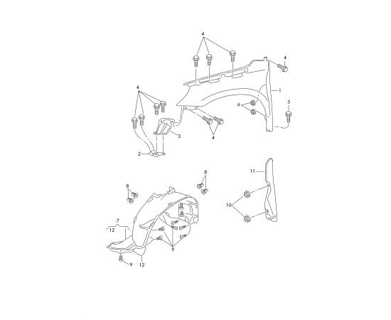 Подкрылок передний правый Skoda Yeti 1 (2009-2017)