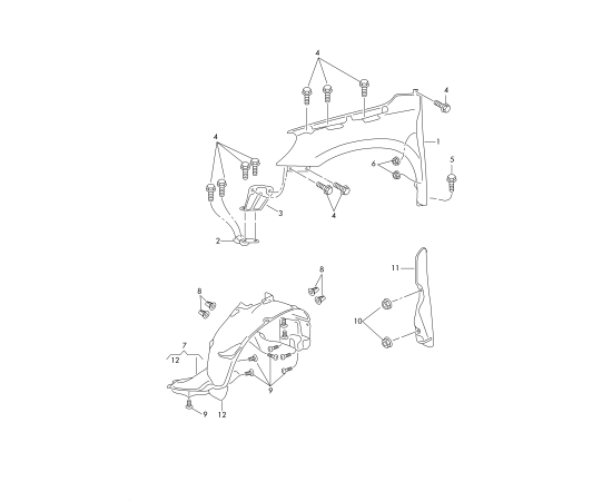 Подкрылок передний левый Skoda Yeti 1 (2009-2017)