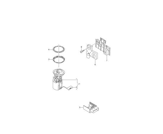 Фильтр топливный в сборе с модулем Skoda Octavia A7 (2013-н.в.)