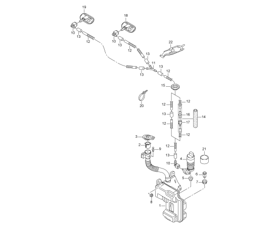 Бачок омывателя Skoda Octavia A7 (2013-н.в.)