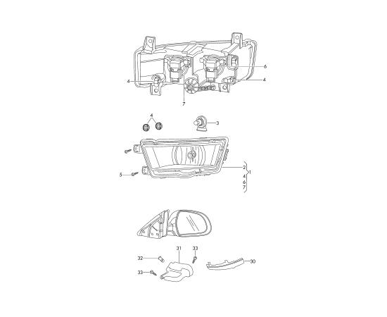 Повторитель поворота правый (зеркало) Skoda Octavia A7 (2013-н.в.)