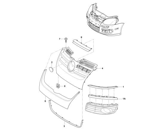 Окантовка решетки радиатора (хром) Volkswagen Jetta 5 (2005-2010)