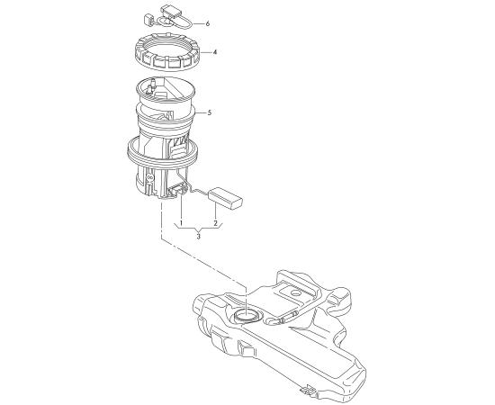 Насос топливный высокого давления в сборе Skoda Roomster (2006-2015)