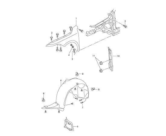 Подкрылок передний правый Skoda Superb 2 (2008-2015)
