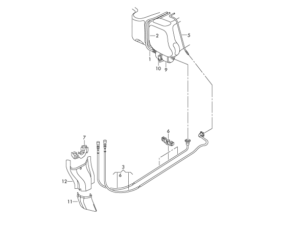 Фильтр топливный Skoda Roomster (2006-2015)